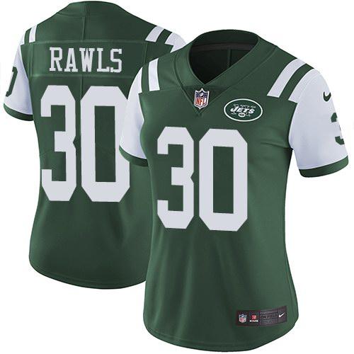 Nike Jets 30 Thomas Rawls Green Women Vapor Untouchable Limited Jersey