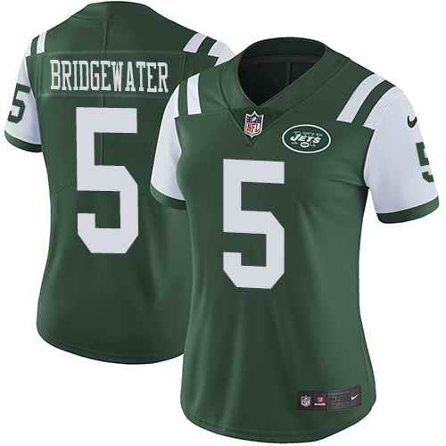 Nike Jets 5 Teddy Bridgewater Green Women Untouchable Limited Jersey