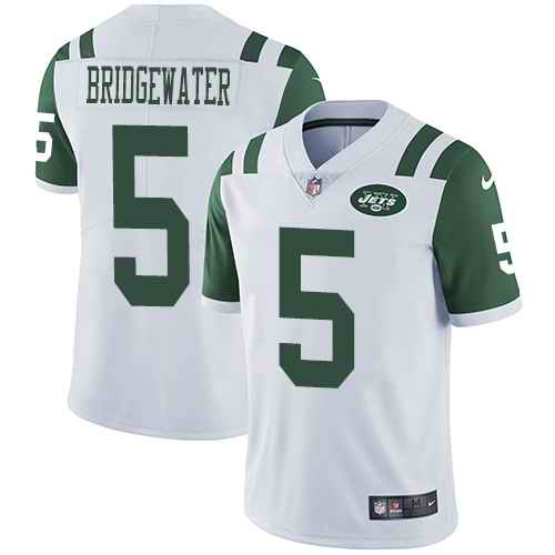Nike Jets 5 Teddy Bridgewater White Youth Vapor Untouchable Limited Jersey