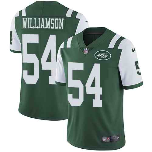 Nike Jets 54 Avery Williamson Green Vapor Untouchable Limited Jersey