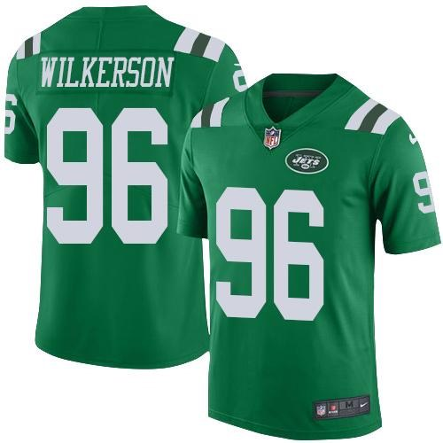 Nike Jets 96 Muhammad Wilkerson Green Youth Color Rush Limited Jersey