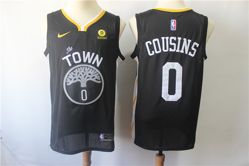 Warriors 0 DeMarcus Cousins Black City Edition Nike Swingman Jersey