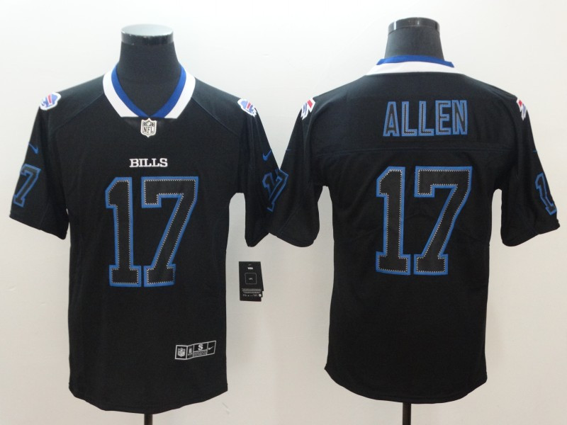 Nike Bills 17 Josh Allen Black Shadow Legend Limited Jersey