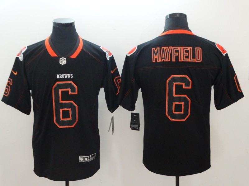 Nike Browns 6 Baker Mayfield Black Shadow Legend Limited Jersey