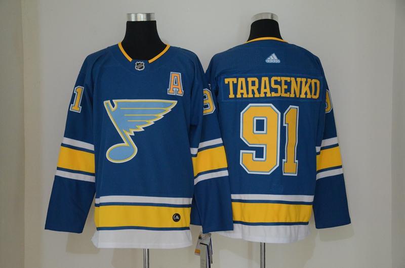 Blues 91 Vladimir Tarasenko Blue Alternate Adidas Jersey