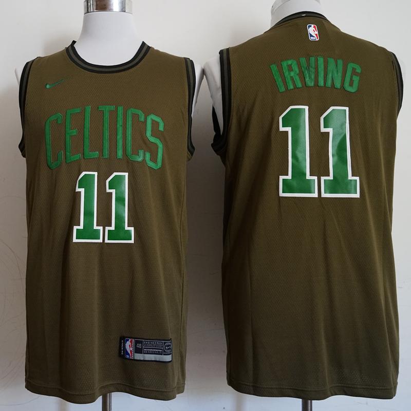 Celtics 11 Kyrie Irving Olive Nike Swingman Jersey