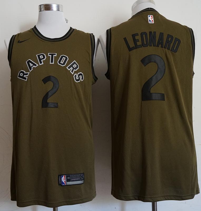 Raptors 2 Kawhi Leonard Olive Nike Swingman Jersey