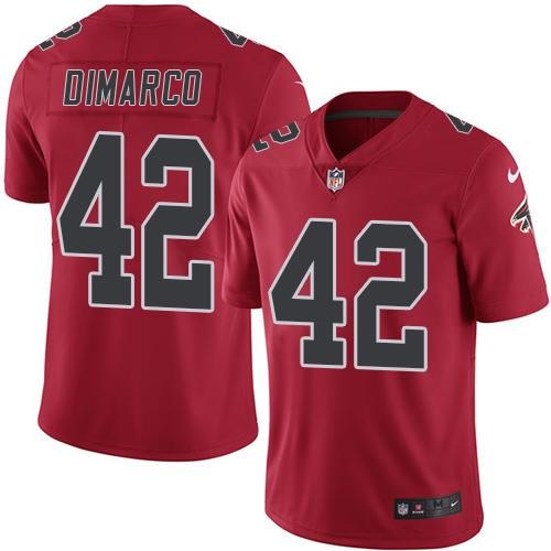 Nike Falcons 42 Patrick DiMarco Red Color Rush Limited Jersey