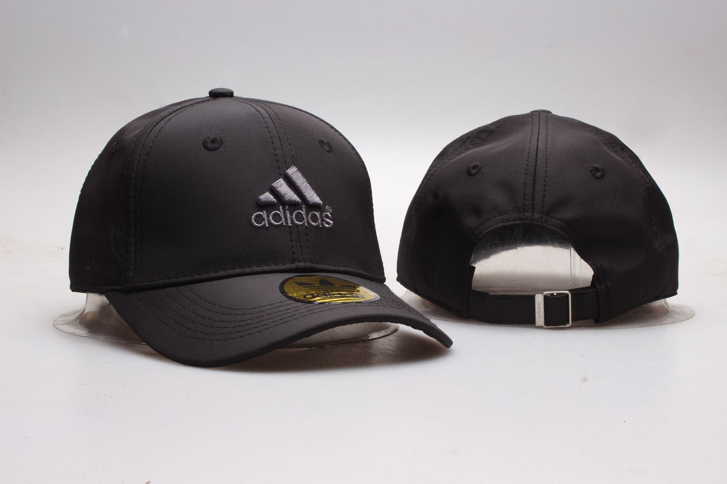 Adidas Fresh Logo Black Peaked Adjustable Hat YP