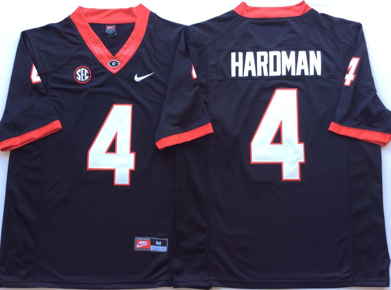 Georgia Bulldogs 4 Mecole Hardman Black Nike College Football Jersey