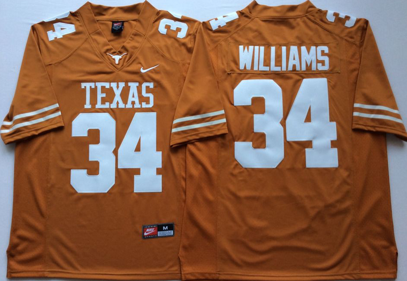 Texas Longhorns 34 Ricky Williams Orange Nike College Football Jersey