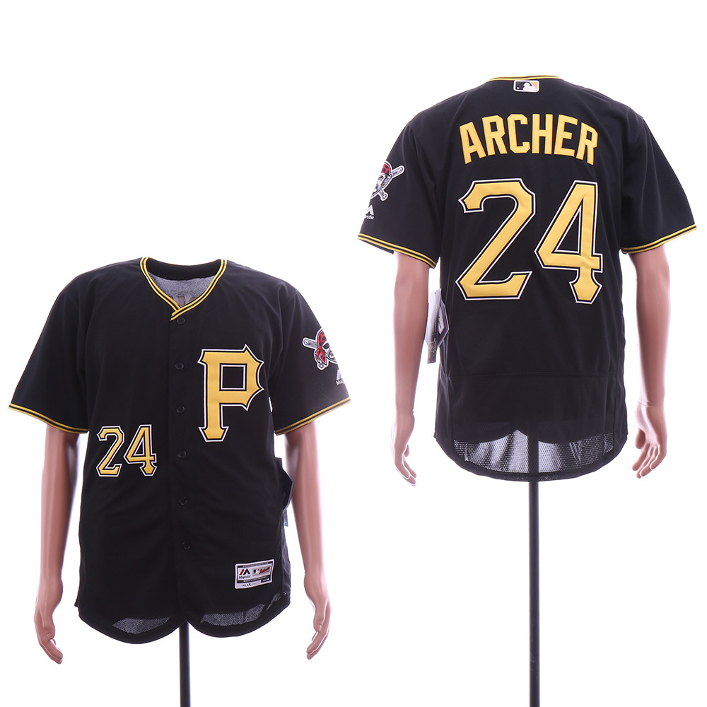 Pirates Chris Archer Black Flexbase Jersey