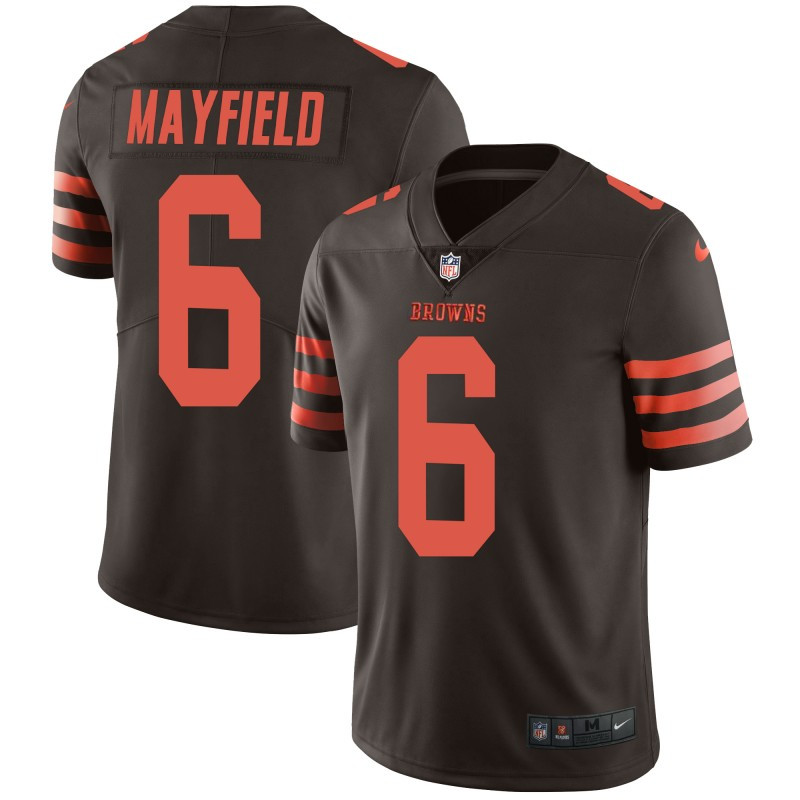 Nike Browns 6 Baker Mayfield Brown Color Rush Limited Jersey