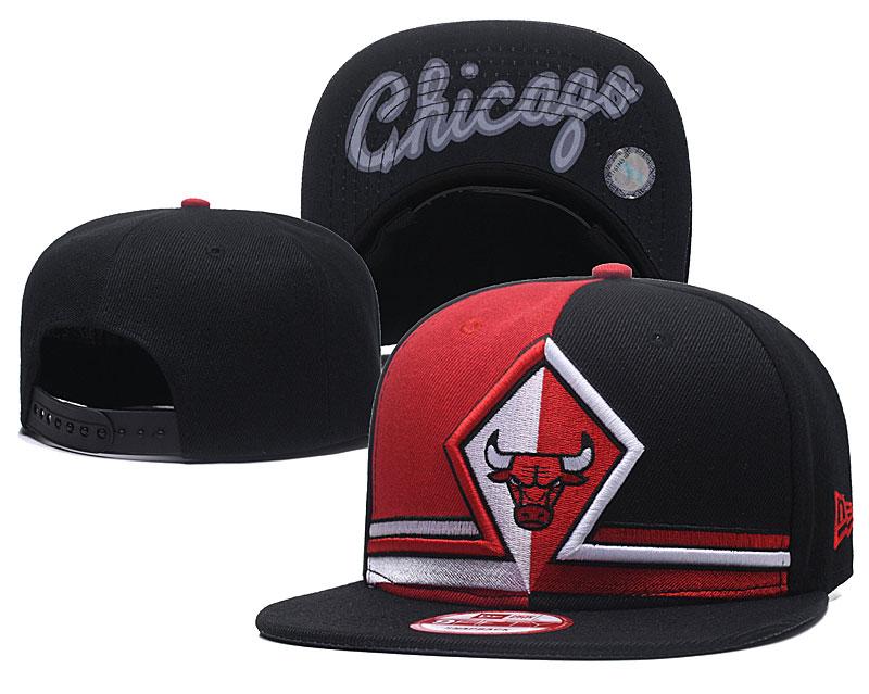 Bulls Team Logo Black Split Adjustable Hat GS