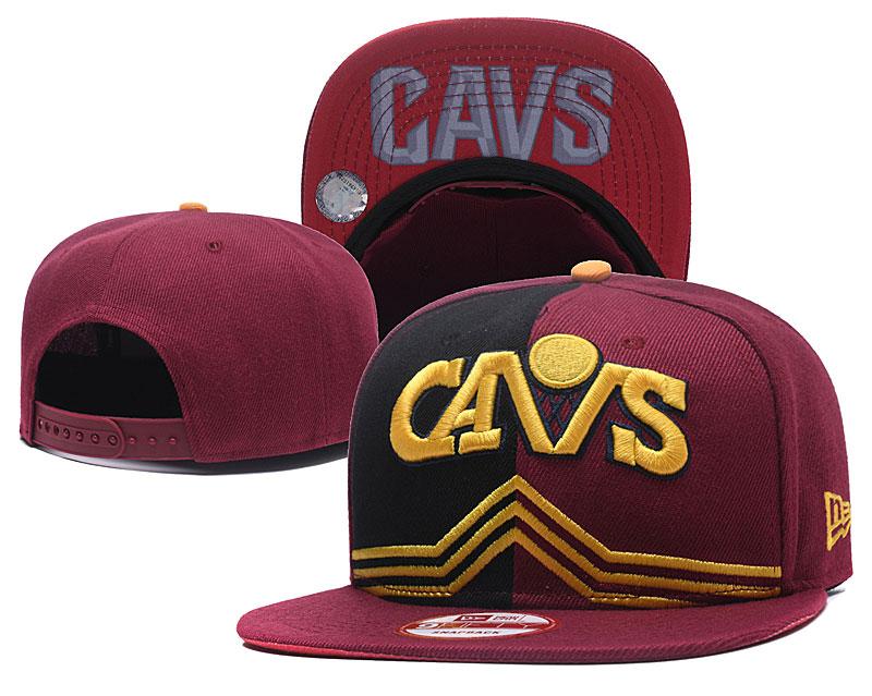 Cavaliers Team Logo Red Split Adjustable Hat GS