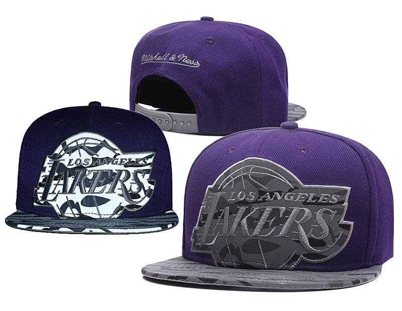 Lakers Reflective Logo Purple Adjustable Hat GS