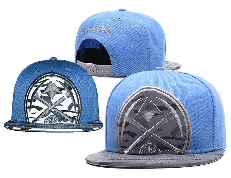 Nuggets Team Logo Blue Adjustable Hat GS