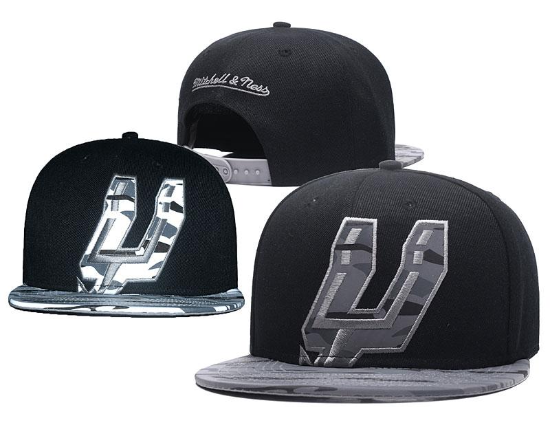 Spurs Reflective Logo Black Adjustable Hat GS