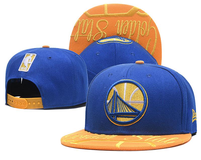 Warriors Team Logo Royal Adjustable Hat GS