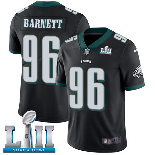 Nike Eagles 96 Derek Barnett Black 2018 Super Bowl LII Vapor Untouchable Limited Jersey