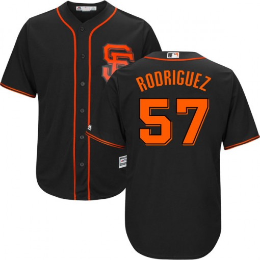 Giants 57 Derek Rodriguez Black Cool Base Jersey