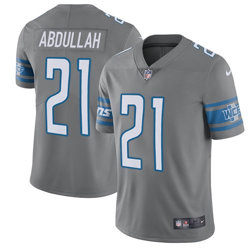 Nike Lions 21 Ameer Abdullah Gray Youth Color Rush Limited Jersey