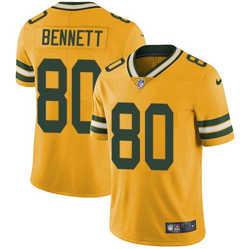Nike Packers 80 Martellus Bennett Yellow Vapor Untouchable Limited Jersey