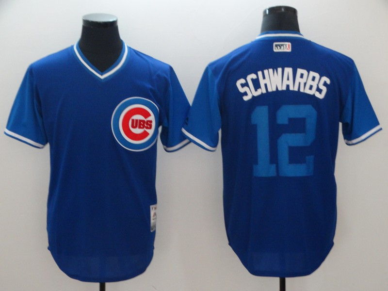 Cubs 12 Kyle Schwarber Schwarbs Majestic Royal 2018 Players Weekend Jersey