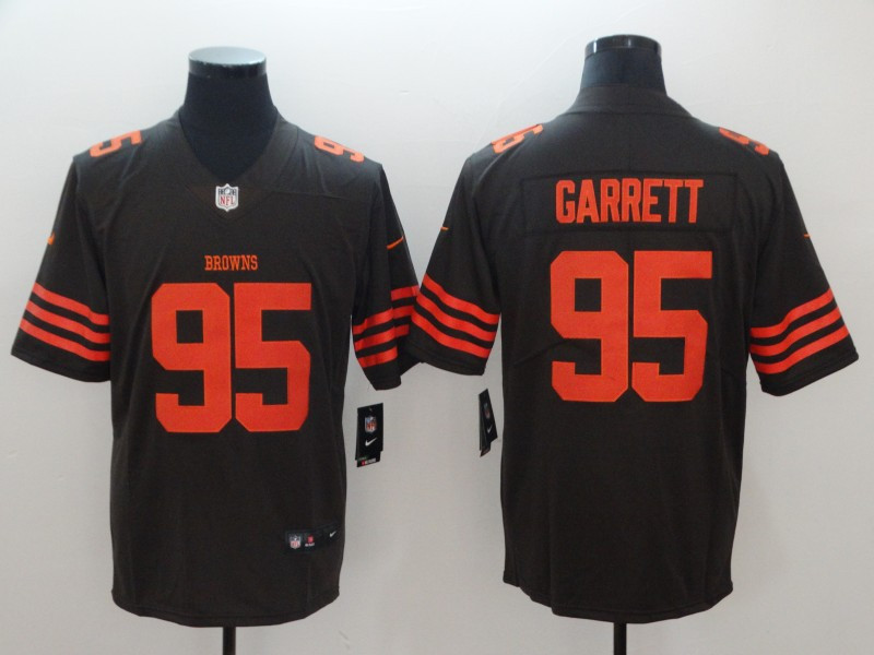 Nike Browns 95 Myles Garrett Brown Color Rush Limited Jersey