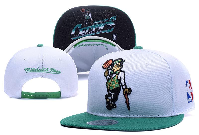 Celtics Fresh Logo White Adjustable Hat YD