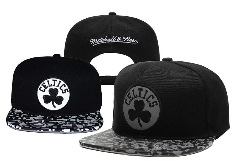 Celtics Reflective Logo Black Adjustable Hat YD
