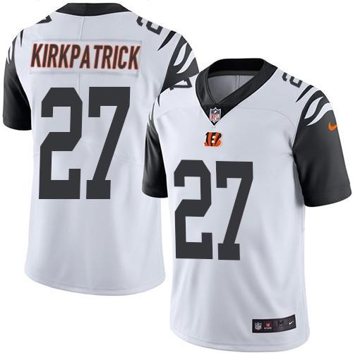 Nike Bengals 27 Dre Kirkpatrick White Youth Color Rush Limited Jersey