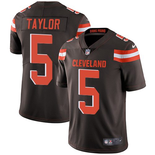 Nike Browns 5 Tyrod Taylor Brown Youth Vapor Untouchable Limited Jersey