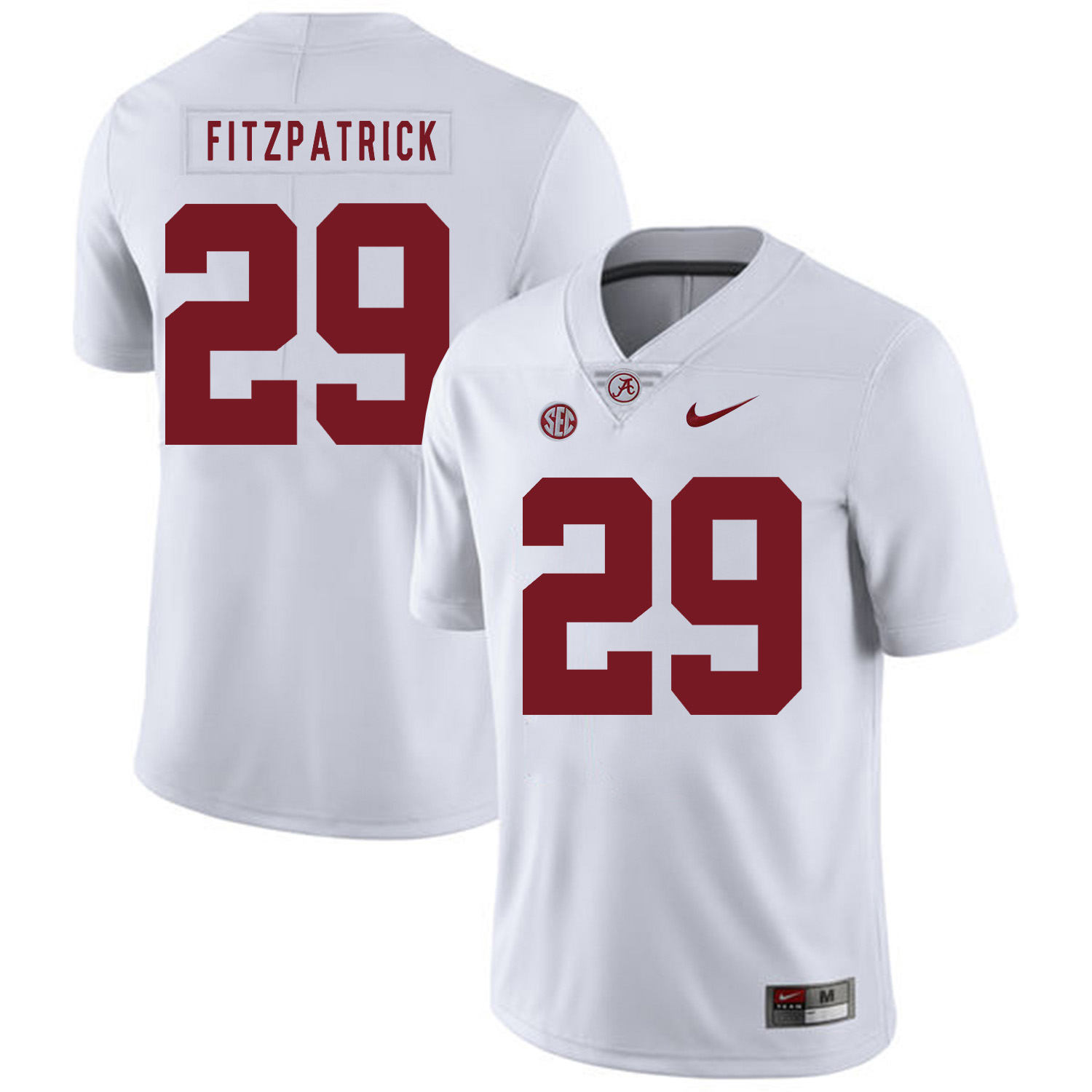 Alabama Crimson Tide 29 Minkah Fitzpatrick White Nike College Football Jersey