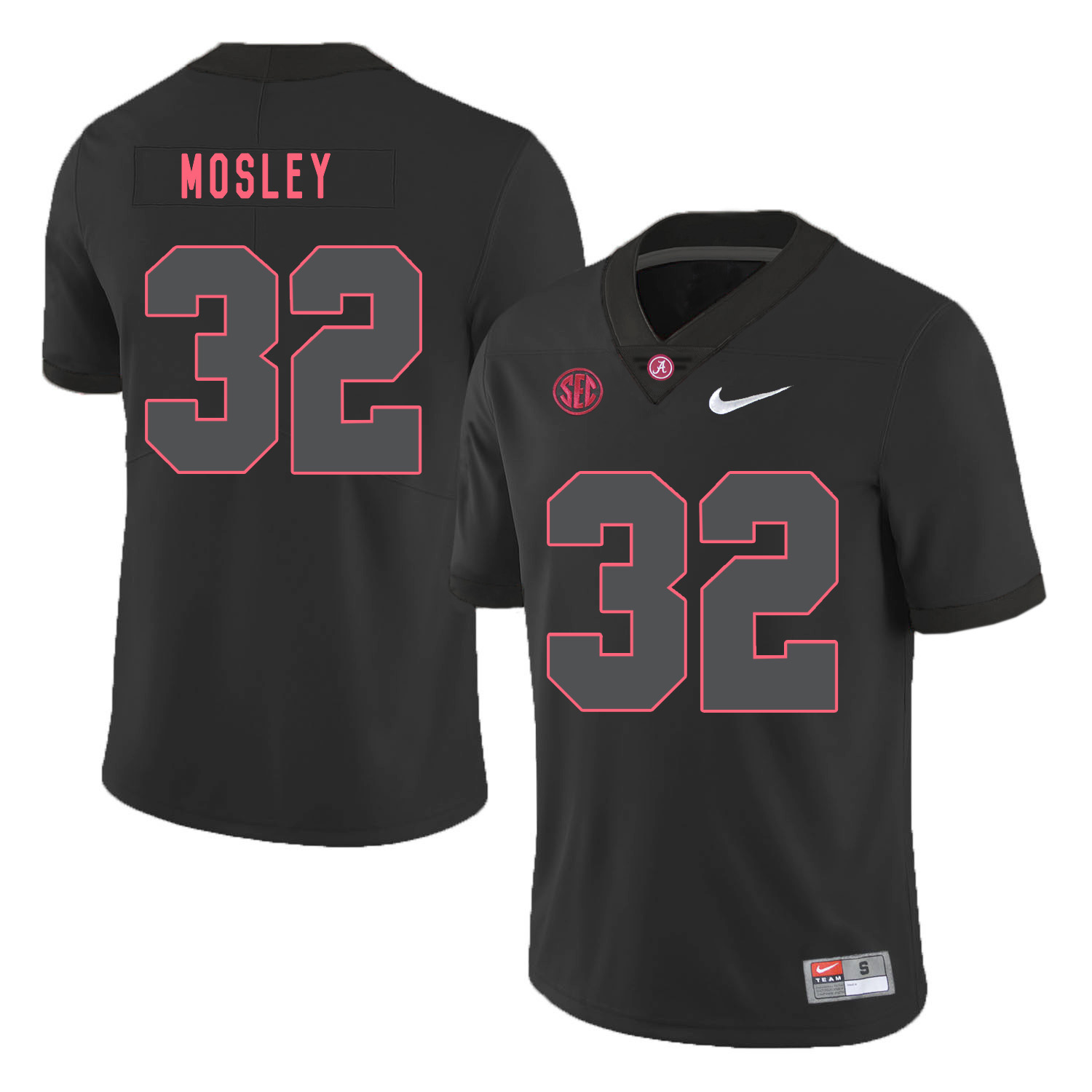 Alabama Crimson Tide 32 C.J. Mosley Black Shadow Nike College Football Jersey
