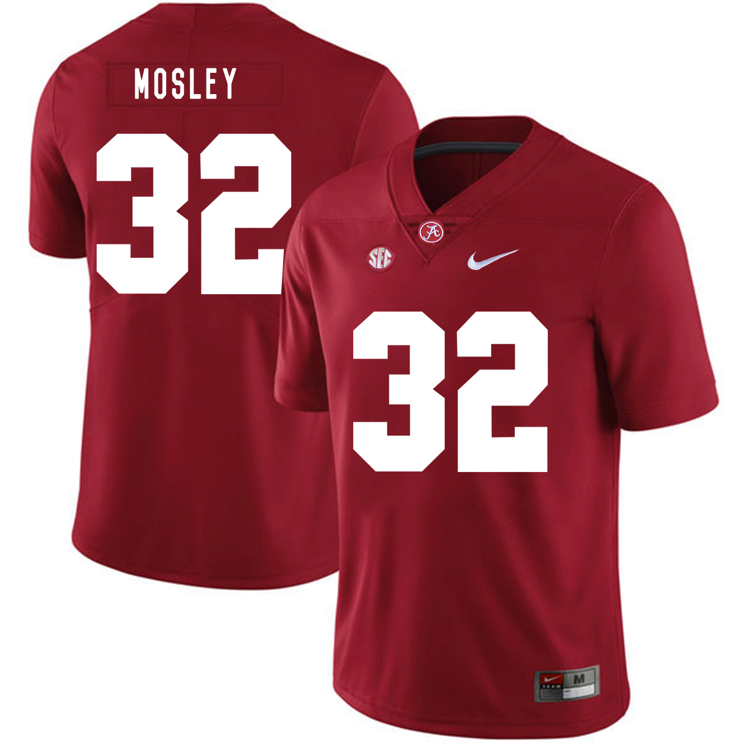 Alabama Crimson Tide 32 C.J. Mosley Red Nike College Football Jersey