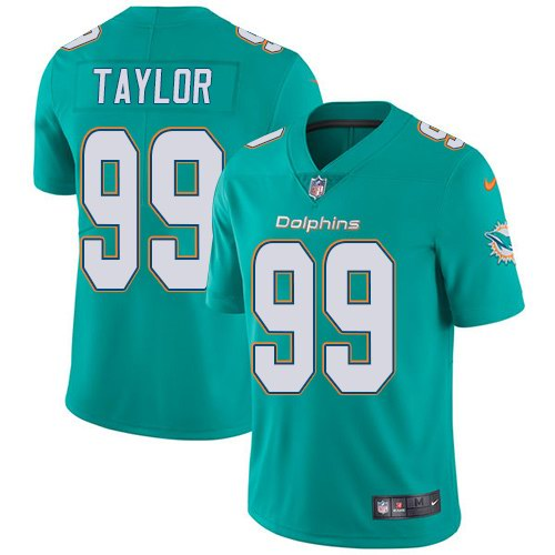 Nike Dolphins 99 Jason Taylor Aqua Youth Vapor Untouchable Limited Jersey