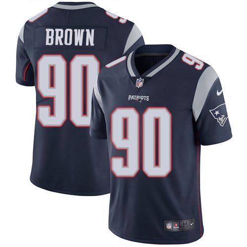 Nike Patriots 90 Malcom Brown Navy Vapor Untouchable Limited Jersey