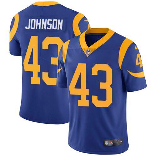 Nike Rams 43 John Johnson Royal Alternate Youth Vapor Untouchable Limited Jersey