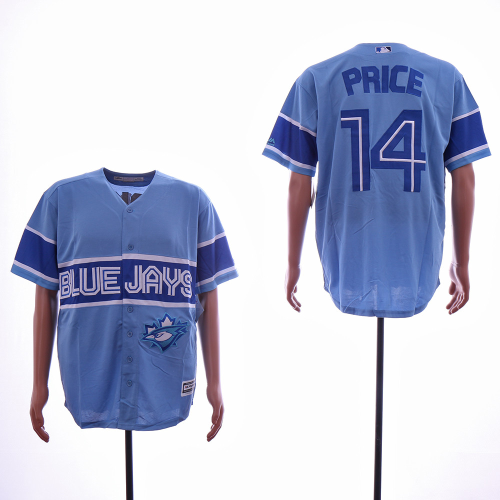 Blue Jays 14 David Price Light Blue Cool Base Jersey