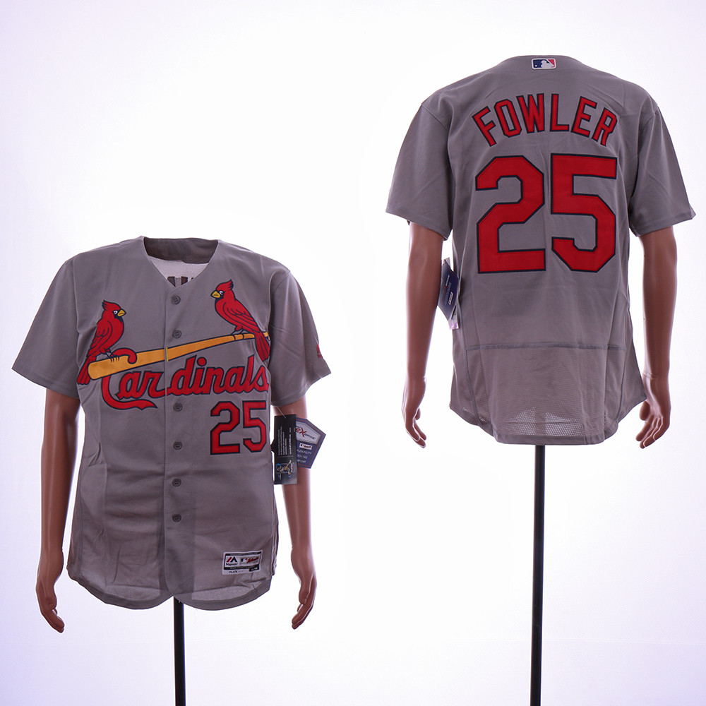 Cardinals 25 Dexter Dowler Gray Flexbase Jersey