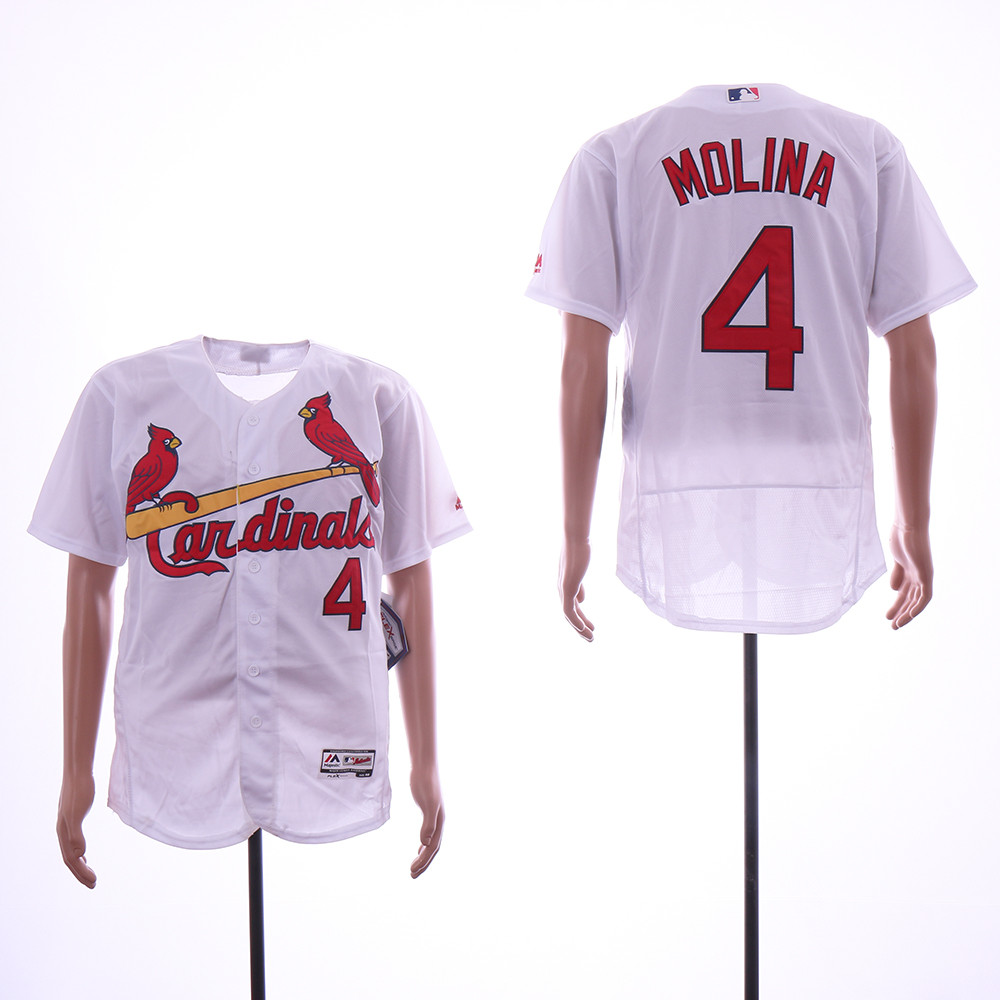 Cardinals 4 Yadier Molina White Flexbase Jersey