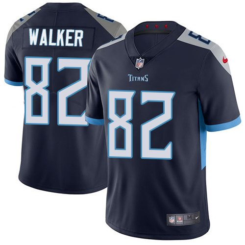 Nike Titans 82 Delanie Walker Navy Youth New 2018 Vapor Untouchable Limited Jersey