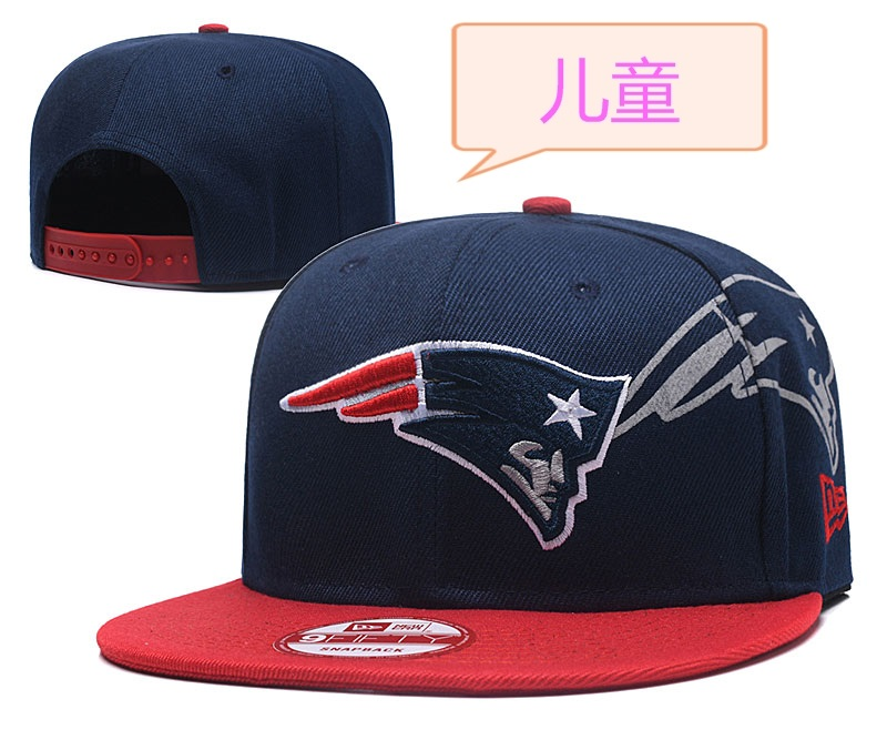 Patriots Team Logo Navy Youth Adjustable Hat GS