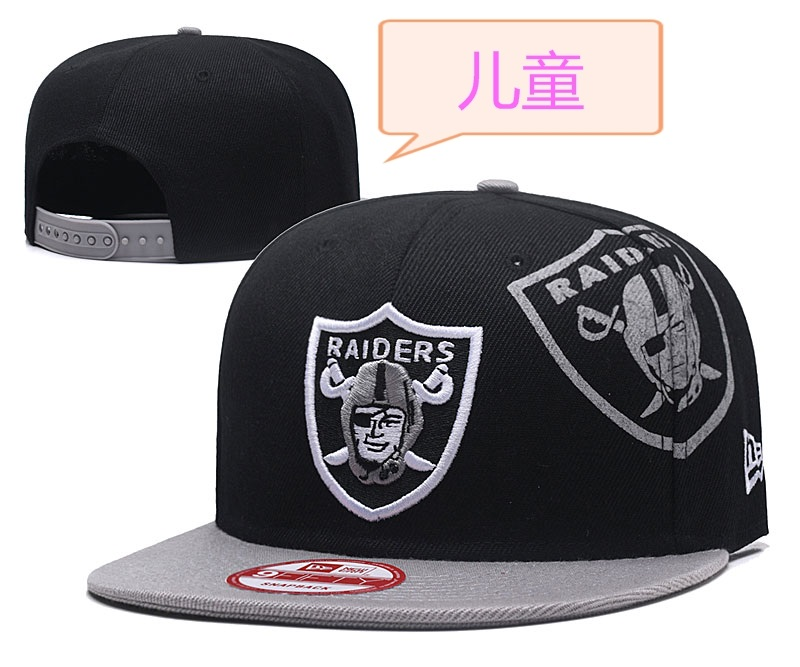 Raiders Team Logo Black Youth Adjustable Hat GS