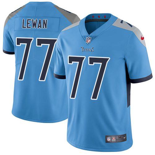 Nike Titans 77 Taylor Lewan Light Blue New 2018 Youth Vapor Untouchable Limited Jersey