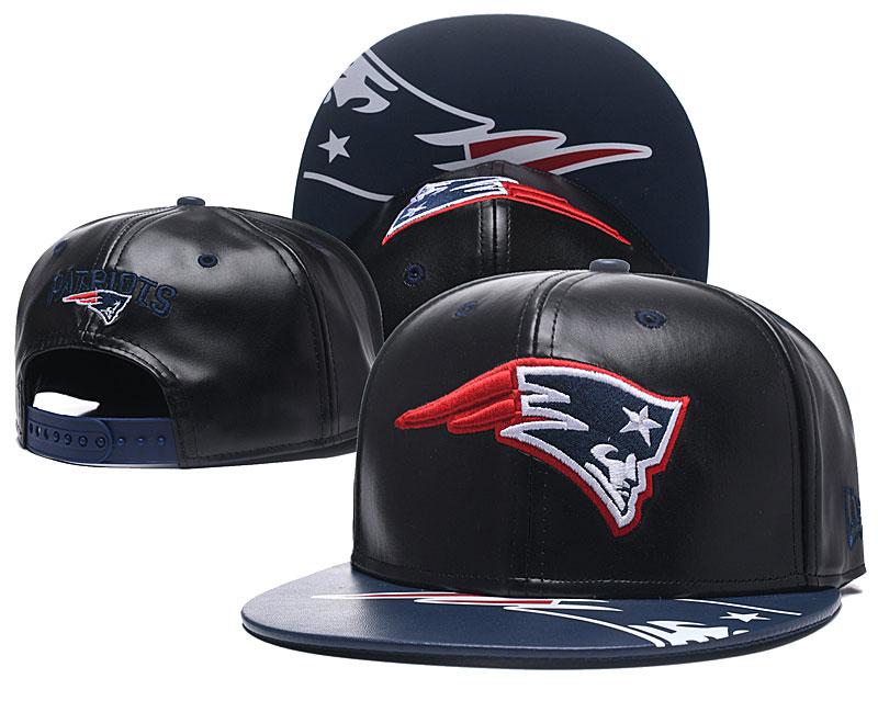 Patriots Team Logo Black Adjustable Hat GS
