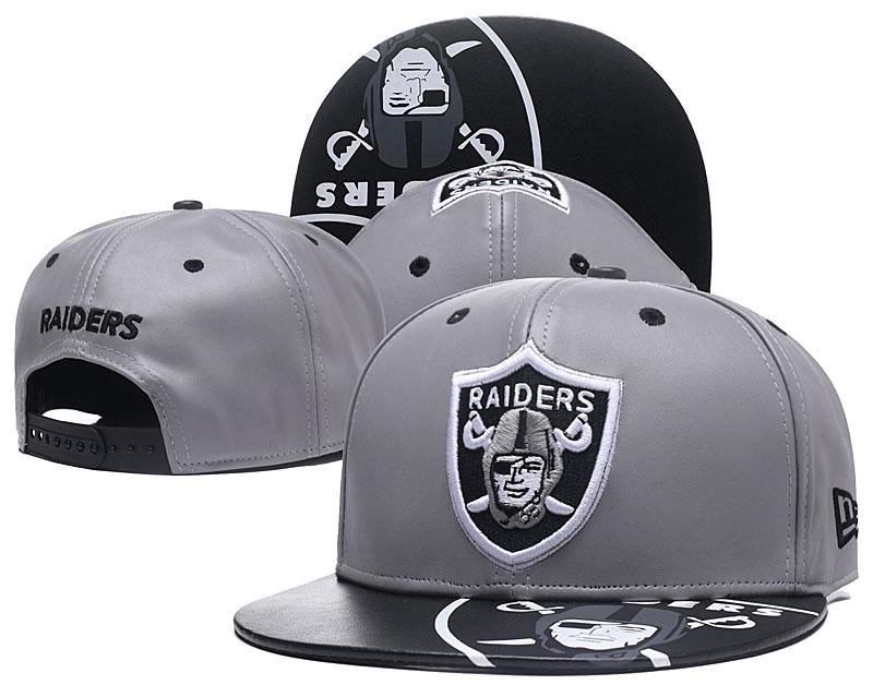 Raiders Team Logo Gray Adjustable Hat GS