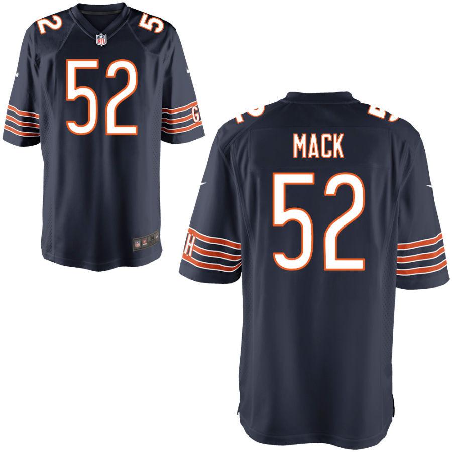 Nike Bears 52 Khalil Mack Navy Elite Jersey