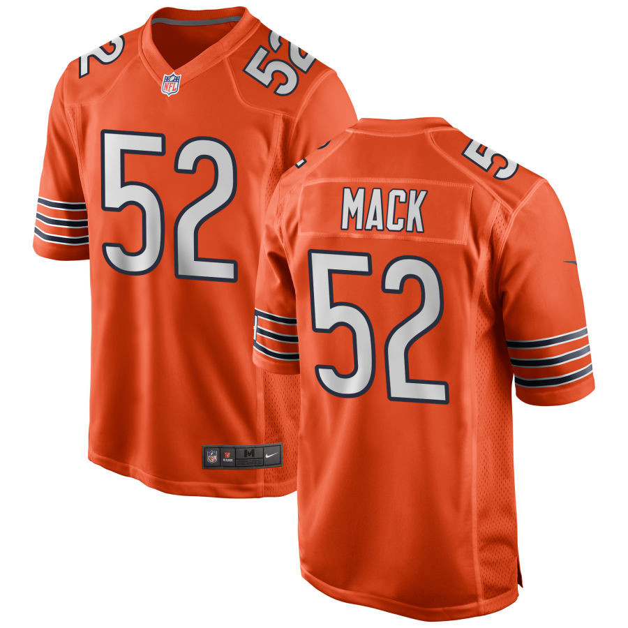 Nike Bears 52 Khalil Mack Orange Alternate Elite Jersey